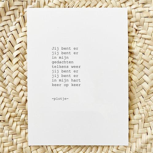 -plotje- kaart (in mijn hart)