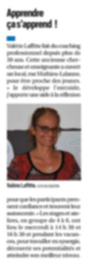 Valérie Laffitte, coach professionnelle à Pau, accompagne étudiants et apprenants