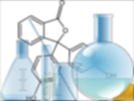 sciences de laboratoire : fioles de chimie organique
