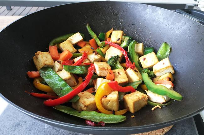 Honey-soy tofu stir-fry