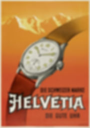 1950s Helvetia Watch Advertisement