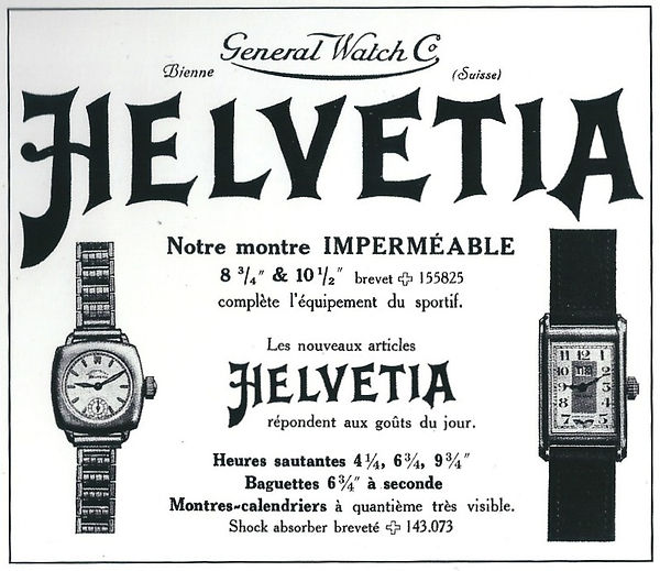 Helvetia Sports Watch Advert