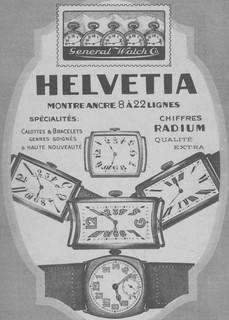 Helvetia Advert 1918