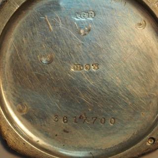 Case Back Hallmarked 1929