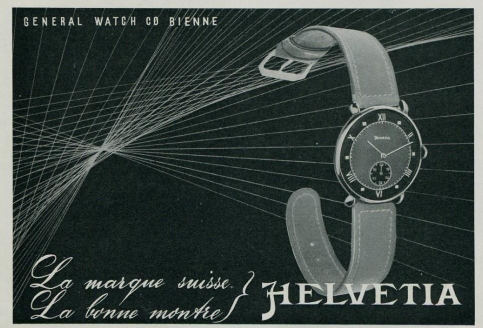 Helvetia Advertisement Late 1940s
