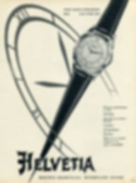 1954 Helvetia Watch Advertisement