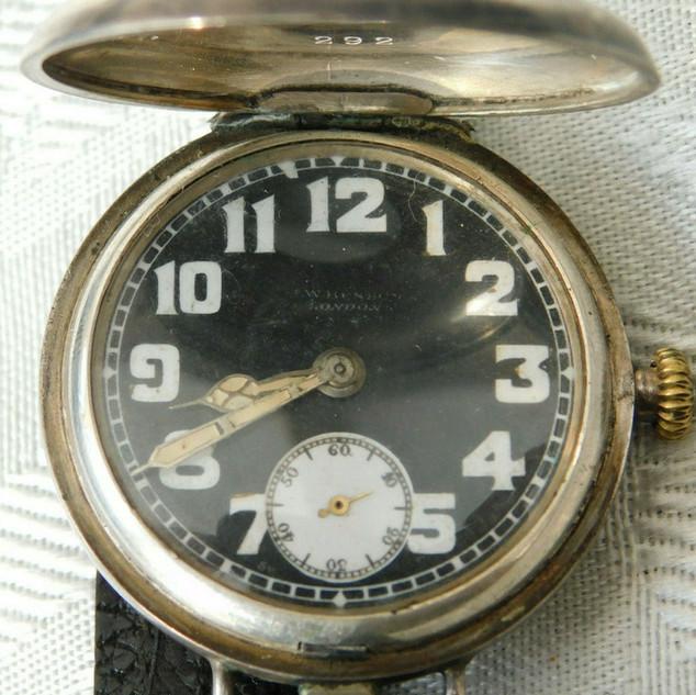 J W Benson Trench Watch - 1918