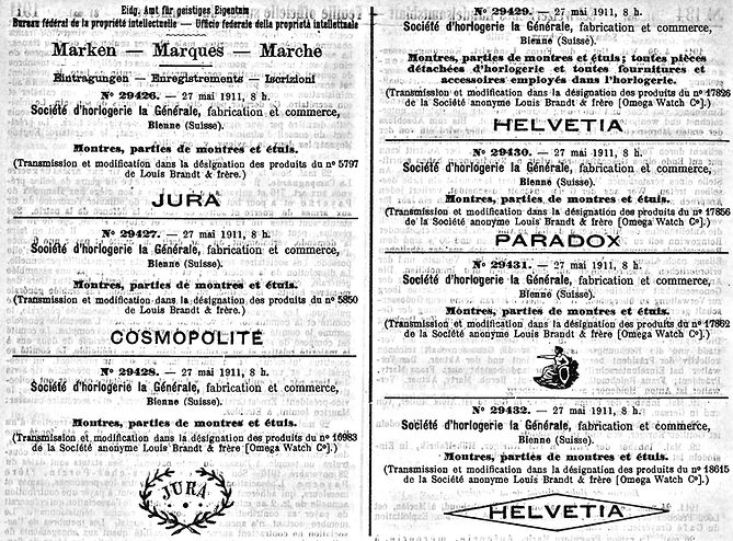 1911 Helvetia and Others to La Generale