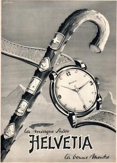 Helvetia Advert Late 1940s