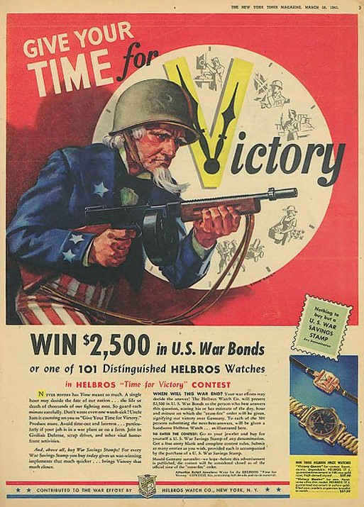 Helbros 'Time for Victory' Advert 1943