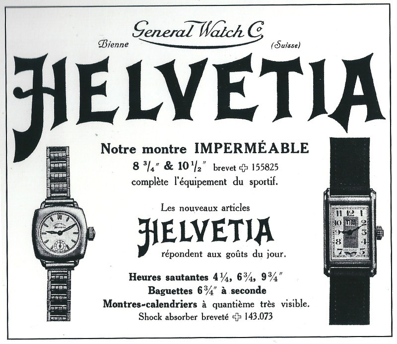 Helvetia Advertisement Early 1930s