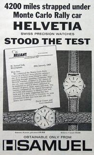 Helvetia H Samuel Advert 1963