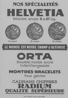 Helvetia Advert 1916