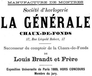 La Generale Announcement 1895