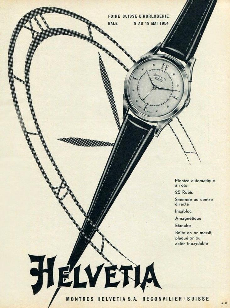 Helvetia Advertisement 1954