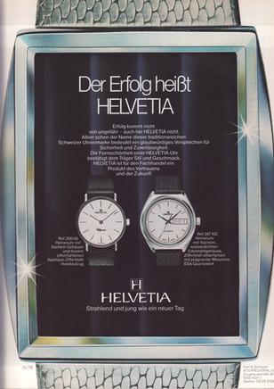 Helvetia Advert Circa 1980