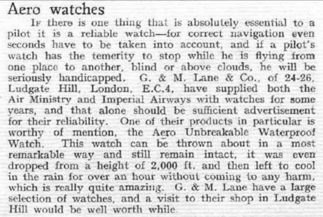 Article from Flight Magazine 1934