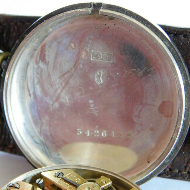 General Watch Co Trench Watch - 1925 - Inner Case Back