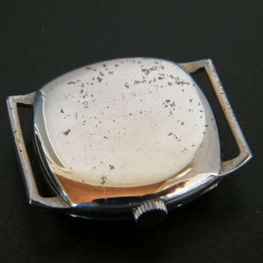 Chromed Case Showing Curved Lugs