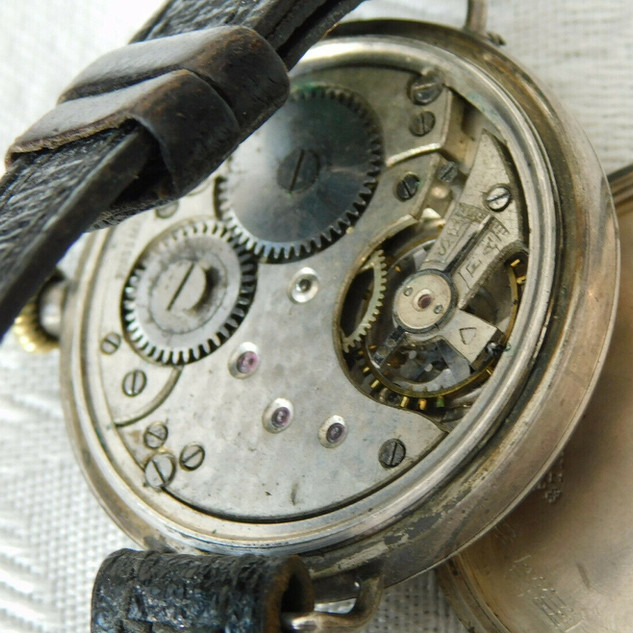 J W Benson Trench Watch - 1918 - Helvetia/GWC Case and Movement