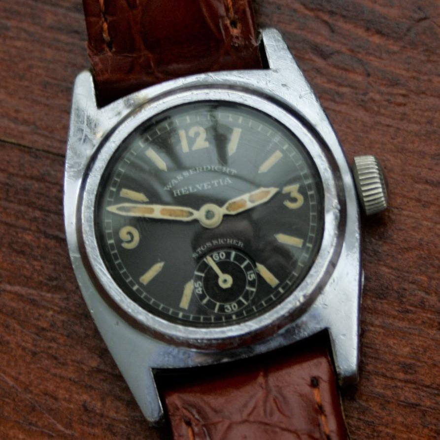 Helvetia 1930s Wasserdicht Stossicher (Waterproof Shockproof) Watch