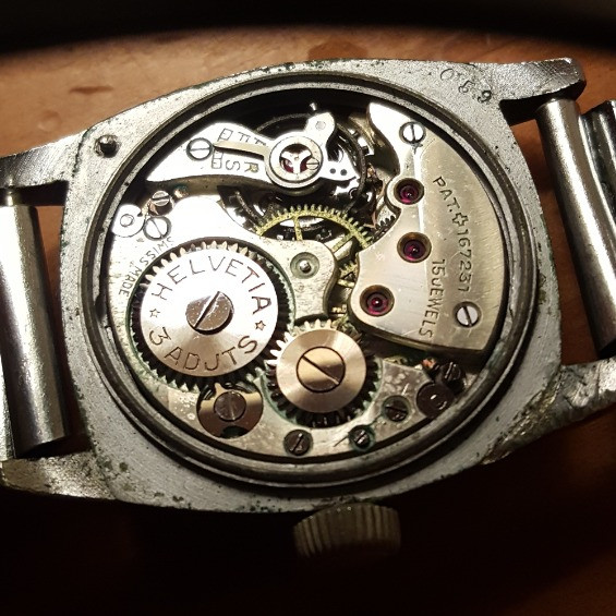 Helvetia 81A-28 Movement with spring mounting