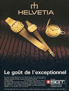 Helvetia Advertisement Circa 1970