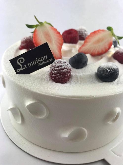 鮮奶莓果蛋糕NT470(蛋奶素可)