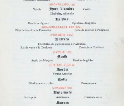 Dining at Delmonico's in 1881