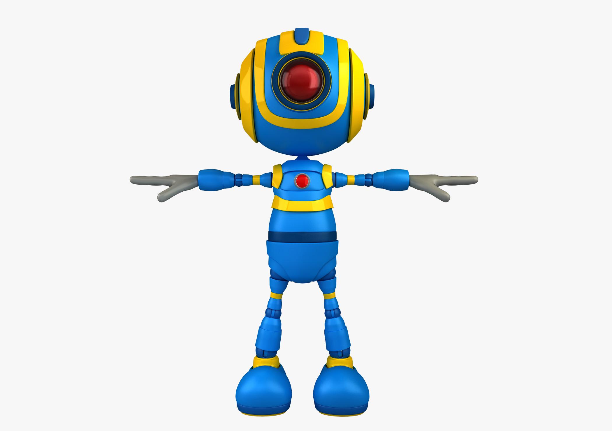 Blue Toon Robot