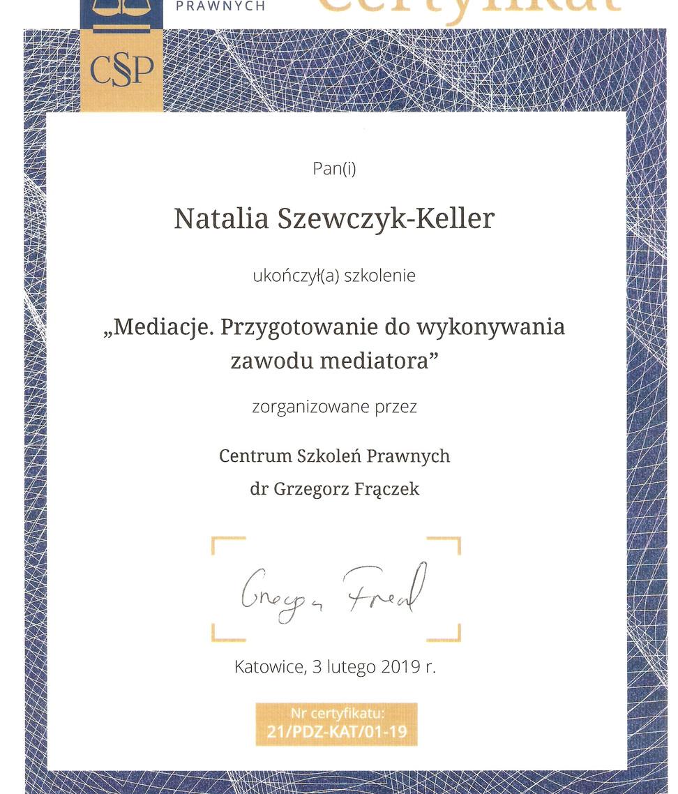 Mediatorka Szewczyk-Keller