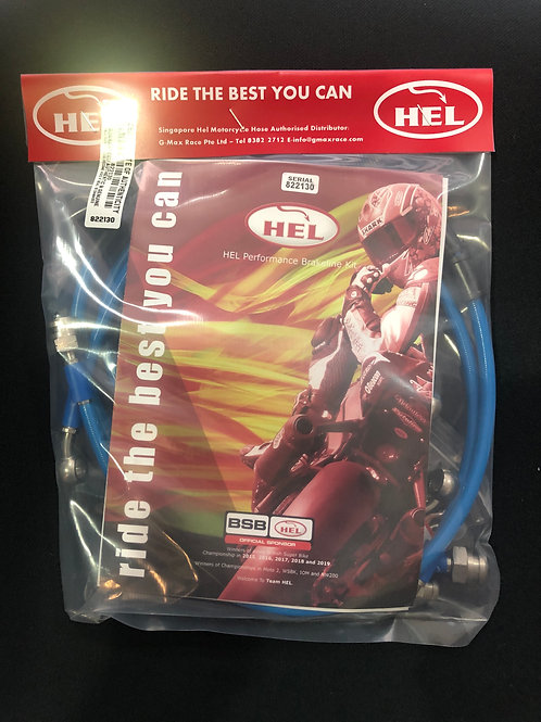 Hel Braided Brake line for Yamaha X-Max 300 ABS