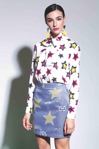 18a CAMICIA STELLE PAINT + GONNA STELLE.