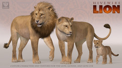 HiveWire Lion Family