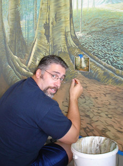 Chris With Mural