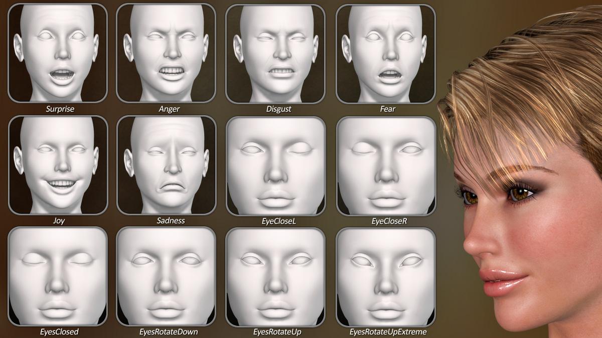Dawn SE Facial Morphs