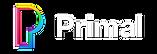 Primal web logo knockout white type tran