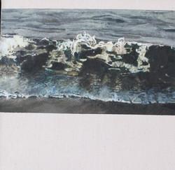'Shoreline, Eastcoast' Mixed Media on Canvas