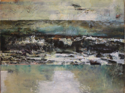 Rough Waters - mixed media on canvas