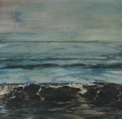 'Rolling Wave'   Mixed media on Linen