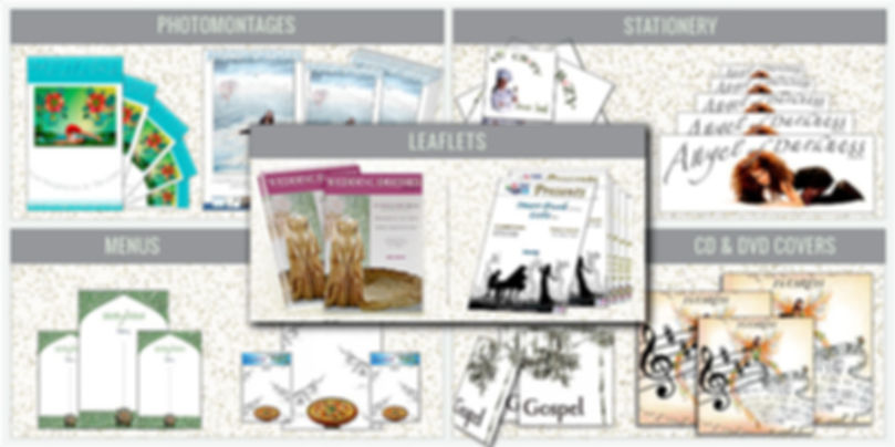 Photomontages, Stationery, Leaflets, Menus, CD Covers design by Montse Ribugent