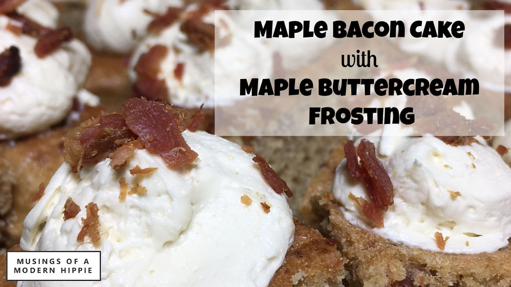 Maple Bacon Cake with Maple Buttercream Frosting | Musings of a Modern Hippie
