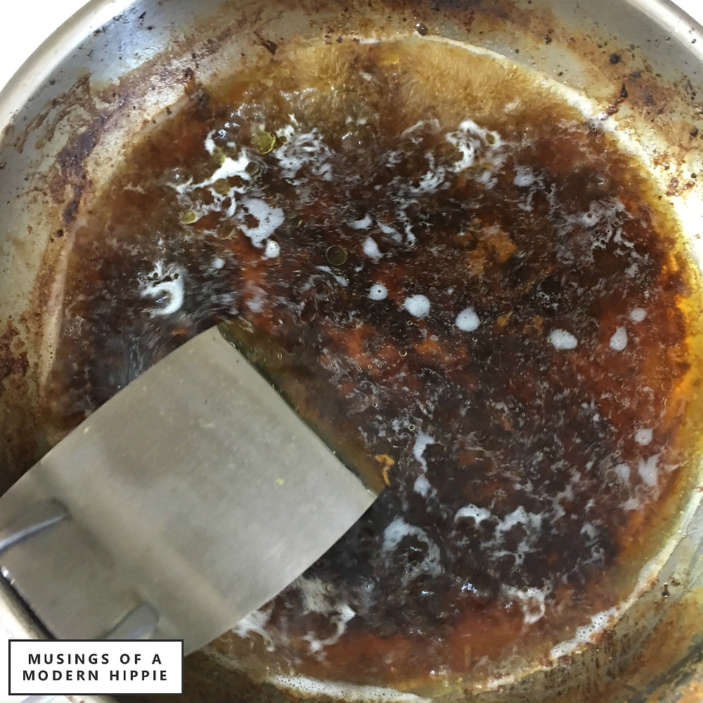Easy Clean a Stainless Steel Pan with Water Only | Musings of a Modern Hippie