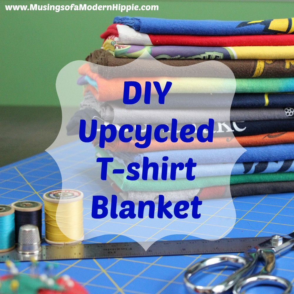 DIY Upcycled T-Shirt Blanket | Musings of a Modern Hippie