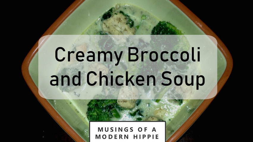 Creamy Broccoli and Chicken Soup
