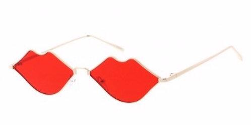 Retro Hot Lips Tinted Sunglasses