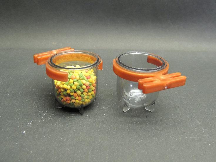 Porta Vitaminas Pequeno Fumê Com Presilha Cobre