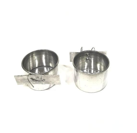 Comedouro de Alumínio Calopsita G com Gancho