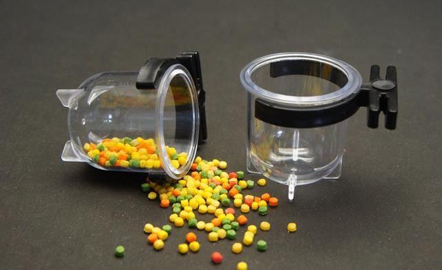 Porta Vitaminas Pequeno Cristal Com Presilha Preta