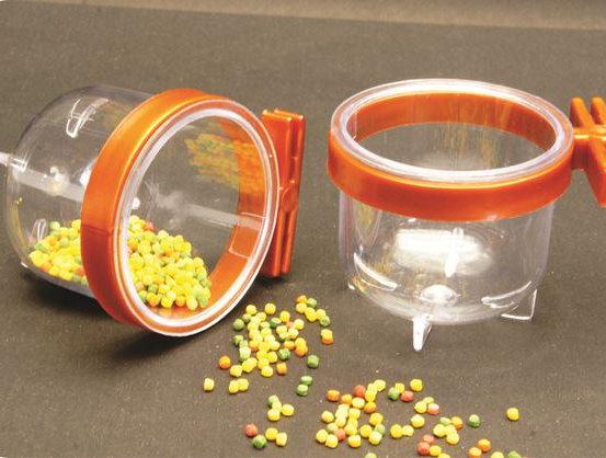 Porta Vitaminas Super Trincão Cristal C/ Presílha Cobre